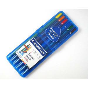 ステッドラー(STAEDTLER) ドイツ エルゴソフト ジャンボ色鉛筆 6色セット|lapiz