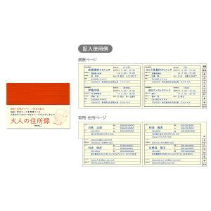 HF住所録 大人の住所録(赤) A6