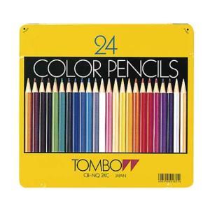 トンボ鉛筆  缶入り色鉛筆24色NQ|lapiz