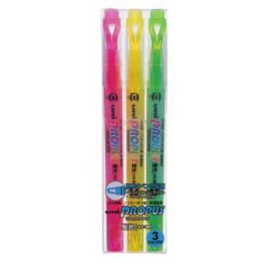【三菱鉛筆】 蛍光ペン プロパスウィンドウ<PROPUS WINDOW> 3色セット|lapiz
