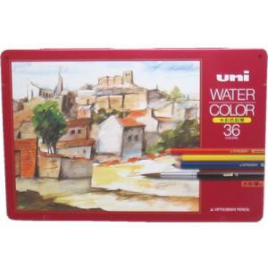 【三菱鉛筆】 ユニ 水彩色鉛筆ウォーターカラー36色|lapiz
