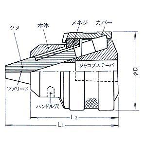 堀内製作所 ドリルチャック 13MG-JT33|laplace|02