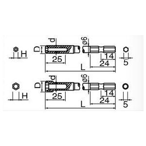日東工器 NKビット NK31B 5.5X9X4X70 六角ボックス 30862