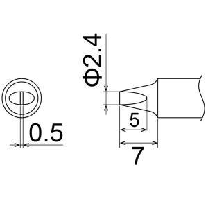 白光 こて先/2.4D型 T22-D24|laplace