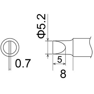 白光 こて先/5.2D型 T22-D52|laplace