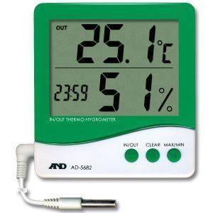 A&D 温湿度計 外部温度センサー付 AD-5682|laplace