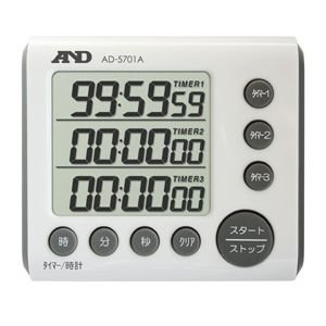 A&D 3チャンネル100時間タイマー AD-5701A|laplace