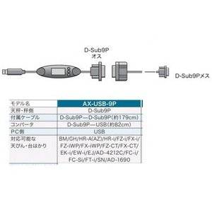 A&D USBコンバータ・ケーブルセット AX-USB-9P|laplace