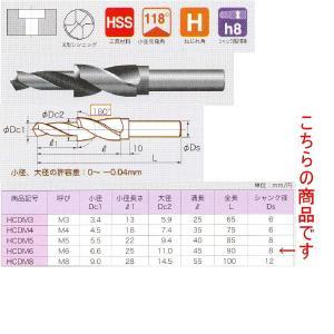 不二越 平小ねじ用座ぐりドリル HCDM6|laplace