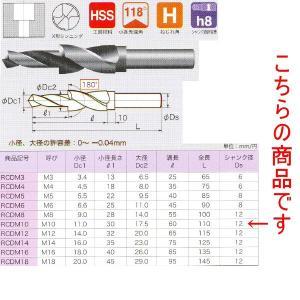 不二越 六角穴付きボルト用座ぐりドリル RCDM10|laplace