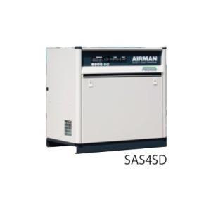 北越工業 スクリューコンプレッサ ドライヤ付 3.7kw 60Hz SAS4SD-6C|laplace