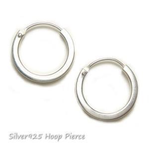 シルバーピアス レディース 2mmワイドのシンプルフープピアス ループ ピアスリング(直径16mmタイプ)|laplateriashu