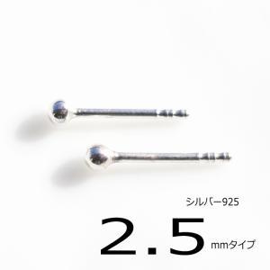 シルバーピアス レディース 丸玉 シャカ球ピアス2.5mm シルバーボールピアス シンプル一粒ピアス|laplateriashu
