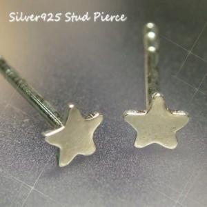 シルバーピアス レディース 小さなお星様 スター プチスタッドピアス |laplateriashu