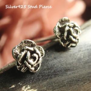 シルバーピアス レディース 小さい 薔薇 バラ ピアス (直径5mmタイプ)|laplateriashu