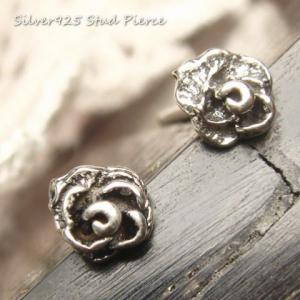 シルバーピアス レディース 小さい 薔薇 ピアス (直径4mmタイプ)|laplateriashu