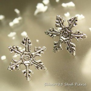 シルバーピアス レディース 雪印 雪の結晶 ピアス スタッドピアス|laplateriashu
