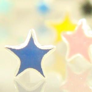 シルバーピアス レディース 小さなカラフルスター プチお星様のスタッドピアス|laplateriashu