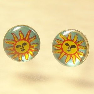 シルバーピアス レディース メキシコ南米風 灼熱太陽のピアス|laplateriashu