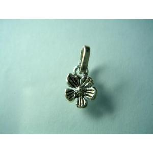 シルバー925 ハンドメイド パーツ ペンダントトップ 花びら 5枚の花びらのようなシンプルなデザイン|laplateriashu