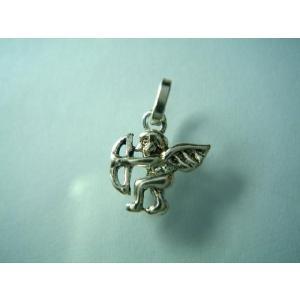 シルバー925 ハンドメイド パーツ ペンダントトップ 可愛い 弓を持ったエルフのようなキューピー|laplateriashu