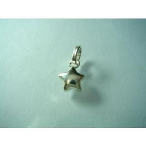 シルバー925 ハンドメイド パーツ ペンダントトップ 可愛い 角が丸まった小さな星 スター|laplateriashu