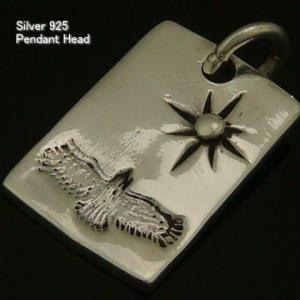 シルバー925 インディアンテイストのプレートペンダントヘッド インディアン47 silver925 シルバーアクセサリー ペンダントヘッド ペンダントトップ メンズ|laplateriashu