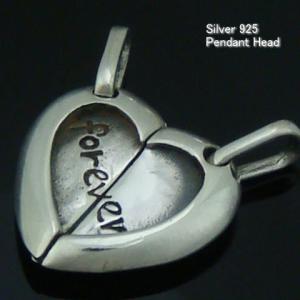 シルバー925 ハートのペンダントヘッド silver925 シルバーアクセサリー ペンダントヘッド ペンダントトップ レディース|laplateriashu