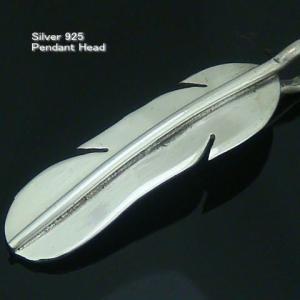 シルバー925 フェザー 羽根 メンズペンダントトップ silver925 シルバーアクセサリー ペンダントヘッド ペンダントトップ ボヘミアンアクセサリー|laplateriashu