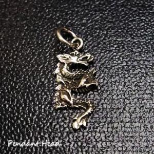 シルバー925 細部まで作り込んだリアルな龍のペンダントヘッド シルバー製 ペンダントヘッド メンズ|laplateriashu