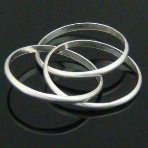 3連輪がとってもキレイ シルバーリング5 指輪|laplateriashu