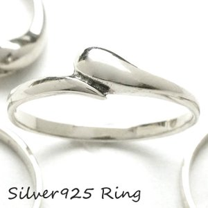 シルバー925 メンズ レディース リング 雫 ドロップ 華奢なシンプルザインの指輪|laplateriashu
