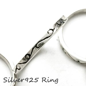 シルバー925 メンズ レディース リング 唐草模様 華奢なシンプルザインにつる草模様が彫られた指輪|laplateriashu