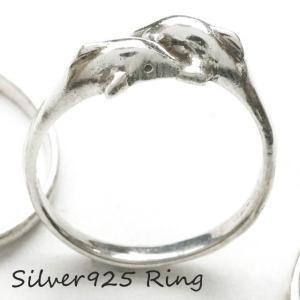 シルバー925 メンズ レディース リング 2頭のイルカが向かい合う可愛い指輪 silver925 ...