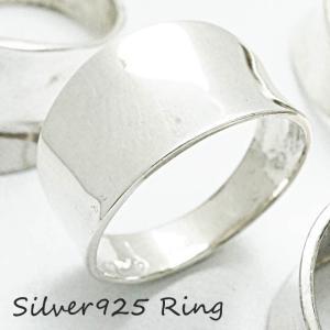 シルバー925 メンズ レディース リング 幅が広い逆甲丸型の指輪|laplateriashu