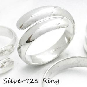 シルバー925 メンズ レディース リング シンプル 甲丸型の板が巻きついたような指輪|laplateriashu