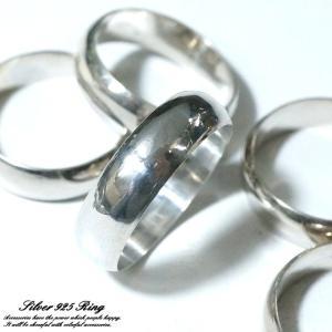 シルバー925 メンズ レディース リング 甲丸 幅広 シンプルデザイン指輪|laplateriashu
