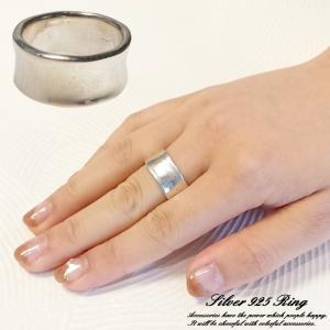 シルバーリング 指輪 甲丸 でこぼこ ゆがみ 凹凸 メンズ レディース ユニセックス シルバー925...