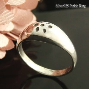 シルバーリング ピンキーリング 指輪 小さな6花弁がキュート まるい形が女性らしフラワーのシルバーピンキィリング4 |laplateriashu