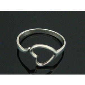 シルバーリング ピンキーリング 指輪 ハートの形のピンキィリング8 |laplateriashu