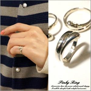シルバー925 メンズ レディース 指輪 滴 雫 しっぽのようなユニークデザインピンキーリング|laplateriashu