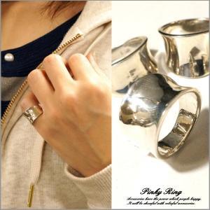 ピンキーリング シルバーリング メンズ レディース 指輪 シンプル 逆甲丸 シルバー925 silv...
