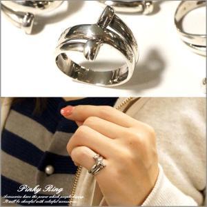 シルバー925 メンズ レディース 指輪 変形 ユニークデザインピンキーリング|laplateriashu