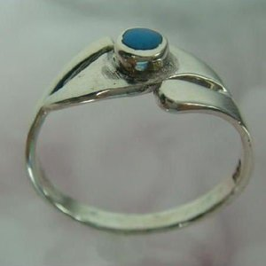 トルコ石リング13 指輪 ターコイズ 夏リング シルバー925 シルバー製|laplateriashu