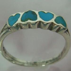トルコ石リング14 指輪 ターコイズ 夏リング シルバー925 シルバー製|laplateriashu