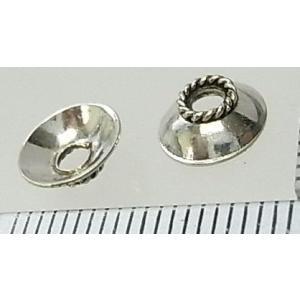シルバーバーツ 1-061 4個で1セット お皿のような形をしていて、天然石などのビーズを挟むとカッコイイビーズ|laplateriashu