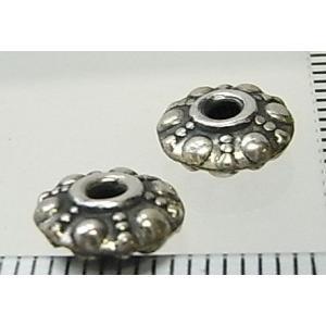 シルバーバーツ 1-062 2個で1セット 円盤形で丸や点点などの模様がオモシロイ雰囲気のビーズ|laplateriashu