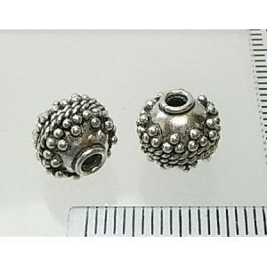 シルバーバーツ 1-064 1個売り 9mm球サイズの丸ビーズにシャカ球でアレンジしたエスニックビーズ|laplateriashu
