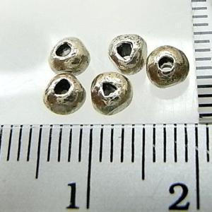 シルバーバーツ 2-008 5個で1セット 直径4.2mmタイプで丸型なのにどこかいびつな丸ビーズ|laplateriashu