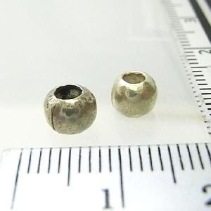 シルバーバーツ 2-035 1個で1セット 直径6.0mmタイプでシンプルな小さい丸型ビーズ|laplateriashu